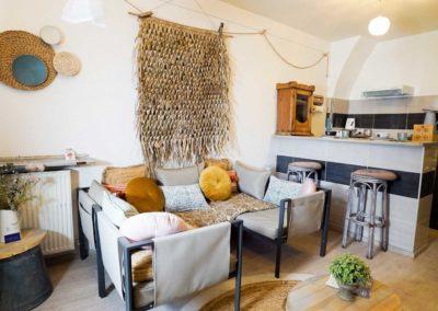 Salon et cuisine La Lavadiere