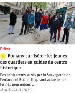 Les jeunes des quartiers en guides du centre historique